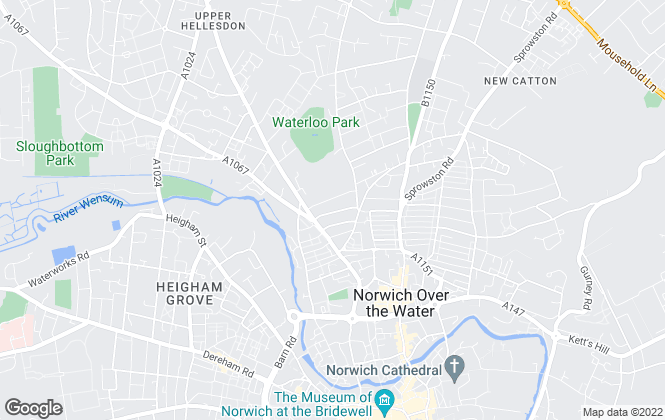 Map for Charing Cross, Norwich