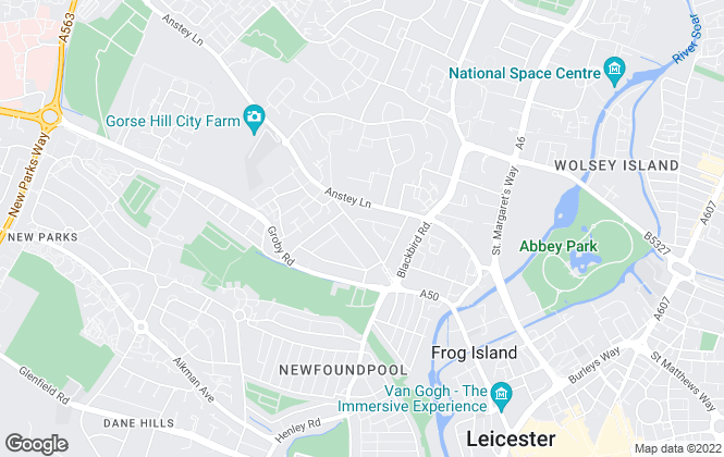 Map for Abbey Lettings & Sales, Leicester