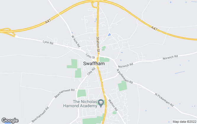 Map for Prestige Sales and Letting Agents, Swaffham