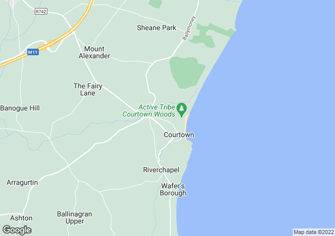 Map for 44 Forest Park, Courtown, Co. Wexford, Y25VH57