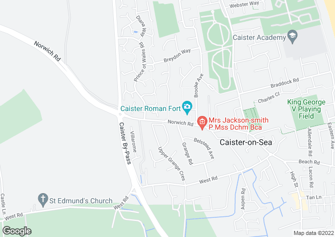 Map for Norwich Road, Caister-On-Sea, Great Yarmouth