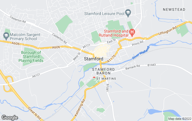 Map for Hurfords, Stamford Bath Row Sales