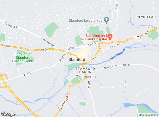 Map for Fine & Country, Stamford