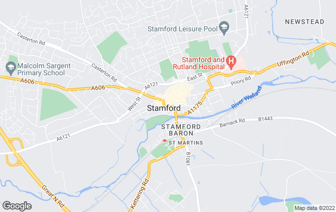Map for Martin & Co, Stamford - Lettings & Sales