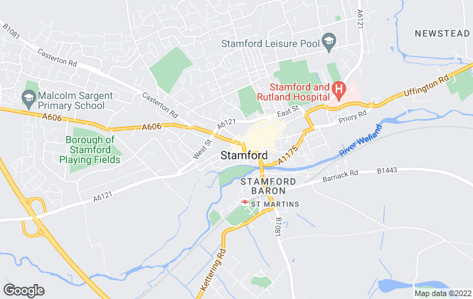 Map for Moores Estate Agents, Stamford