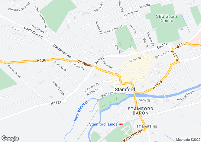 Map for Scotgate, Stamford, Lincolnshire
