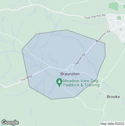 Map of property in Braunston