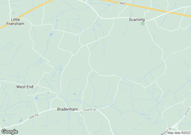 Map for Bradenham, Dereham, Norfolk