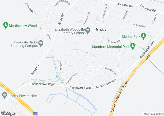 Map for Queensmead Close, Groby