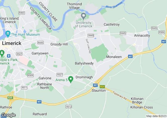 Map for 182 Caisleán Na hAbhainn, Castletroy, Limerick, V94 XPF9