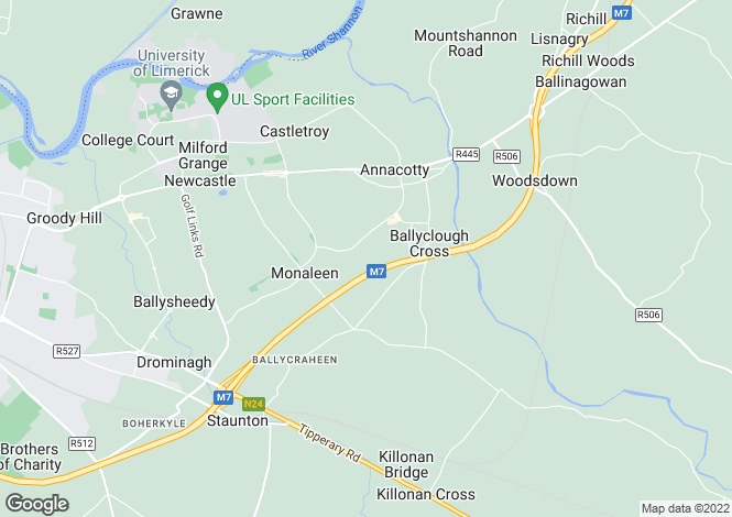 Map for The Honeysuckle, Bloomfield, Annacotty, Co Limerick
