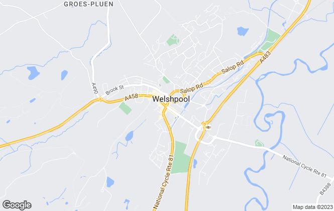 Map for Halls Estate Agents , Welshpool