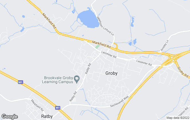 Map for Harrison Murray, Groby