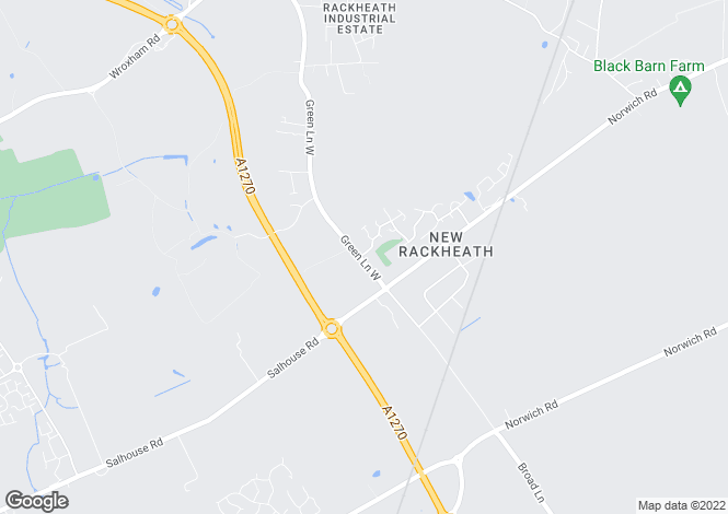 Map for Green Lane West, Rackheath