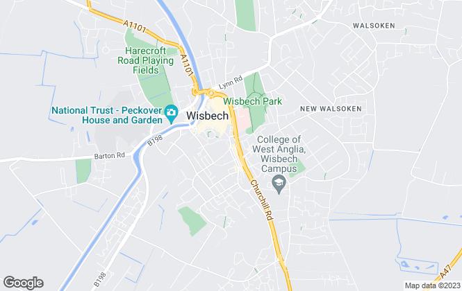 Map for Valiant Properties Ltd, Wisbech