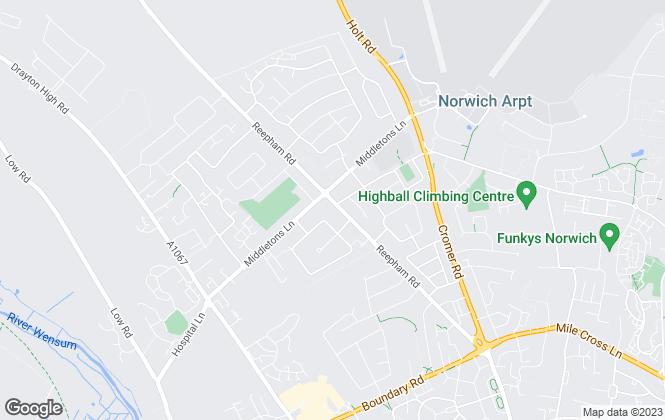 Map for Abbotts, Hellesdon