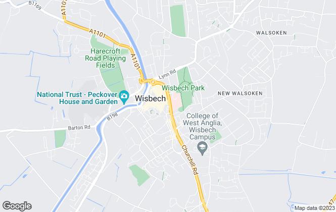 Map for Robert Hale Estates, Wisbech