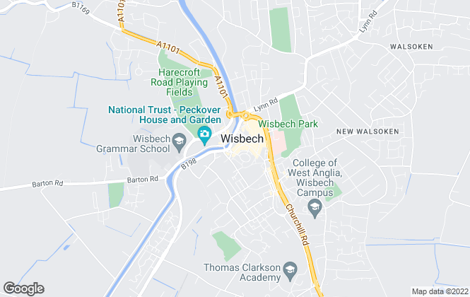 Map for William H. Brown, Wisbech