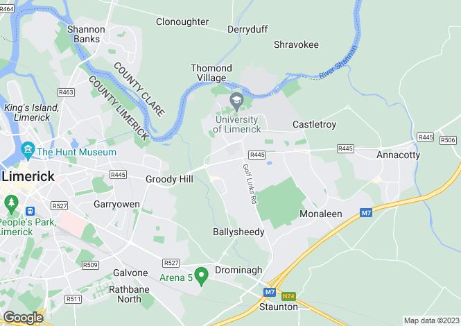 Map for 17 Newcastle Court, Castletroy, Limerick, V94 DH56