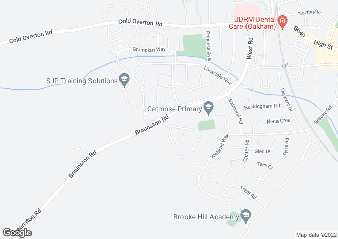 Map for Braunston Road, Oakham