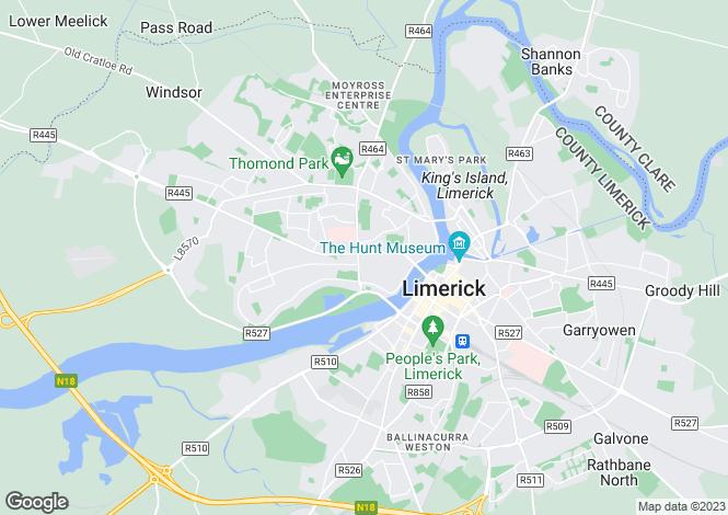 Map for 2 Moyola Terrace, Ennis Road, Limerick, V94 R8XA