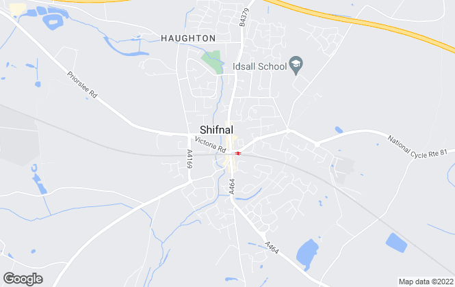 Map for KeyAngels Estate Agents Ltd, Shifnal & Telford