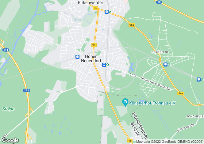 Map for Brandenburg, Berlin, Germany