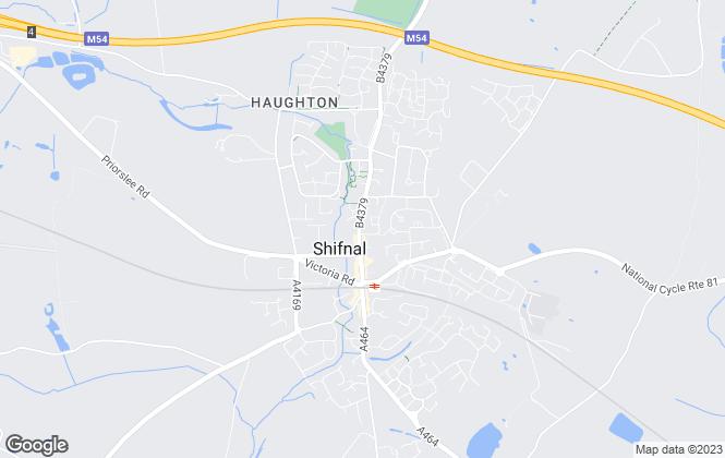 Map for Fields Of Shifnal Ltd, Shifnal