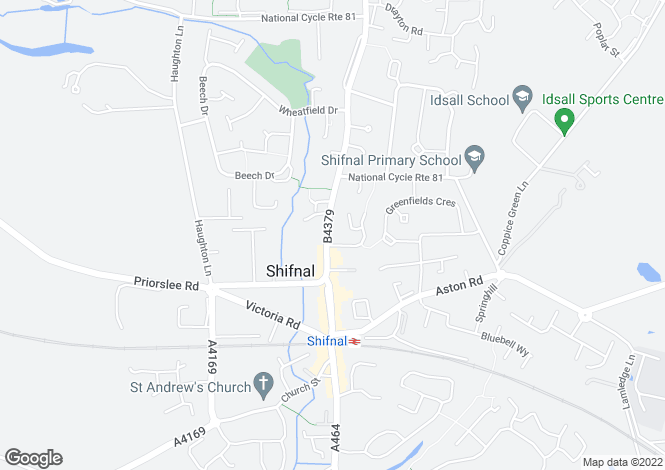 Map for Broadway Shifnal