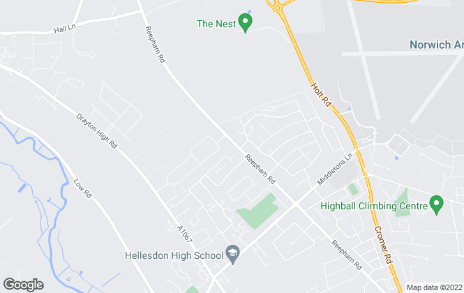 Map for William H. Brown, Hellesdon