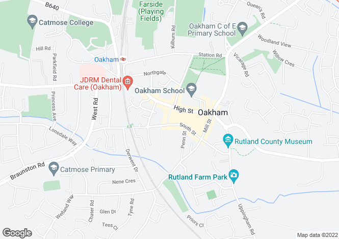 Map for Gaol Street, Oakham, Rutland, LE15