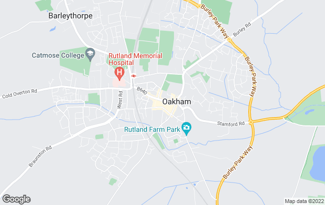 Map for Moores Estate Agents, Oakham, Uppingham