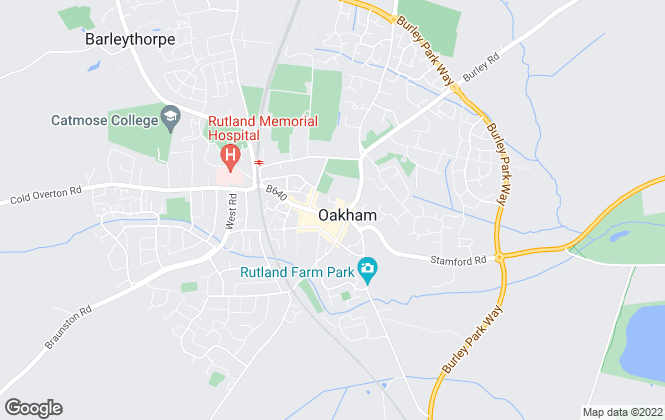 Map for Newton Fallowell, Oakham
