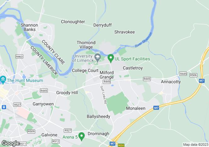 Map for 8 Plassey Grove, Milford Grange, Castletroy, Limerick