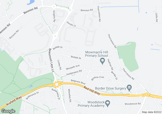 Map for Bedale Drive, Mowmacre Hill, Leicester, LE4