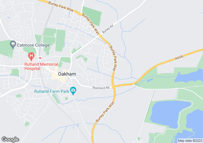 Map for Tolethorpe Close, Oakham, Rutland, LE15