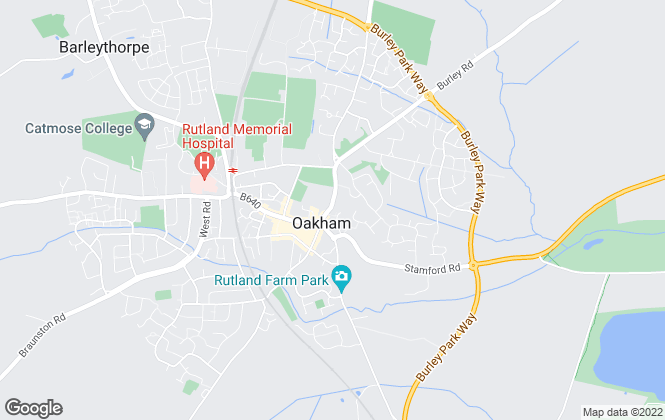 Map for Osprey Property, Oakham