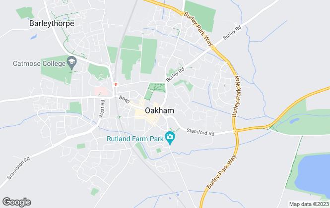 Map for Osprey Lettings, Oakham