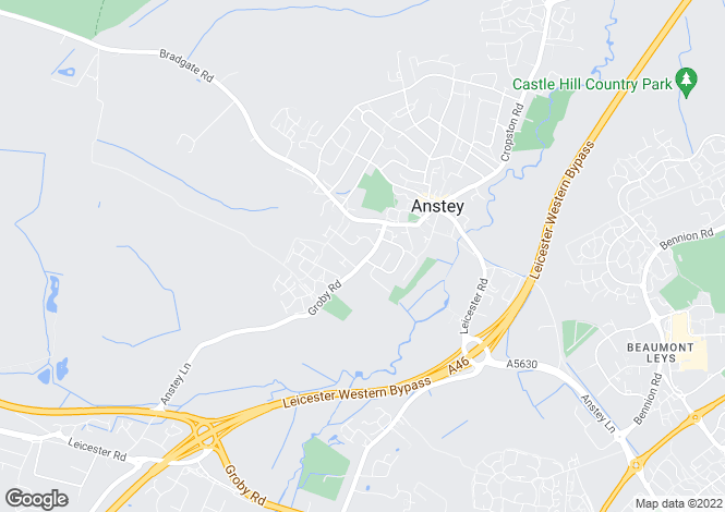 Map for Groby Road, Anstey, Leicester, LE7 7FN