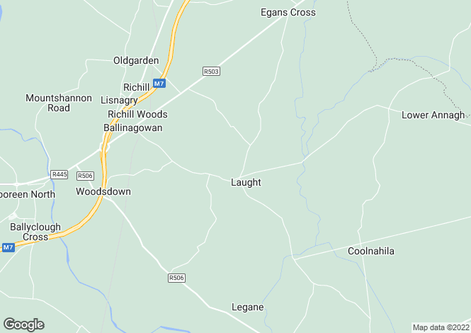 Map for Laught, Lisnagry, Limerick