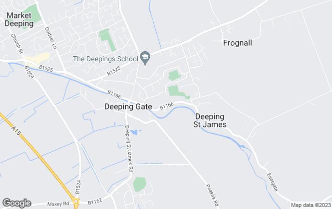 Map for Cloverbrook Property Management Ltd, Peterborough
