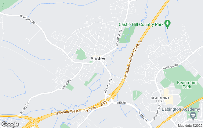 Map for Affitto Estate Agents, Leicester