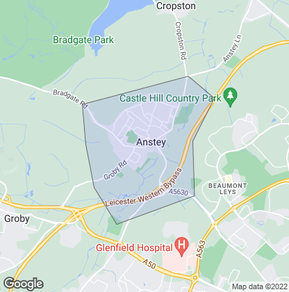 Map of property in Anstey