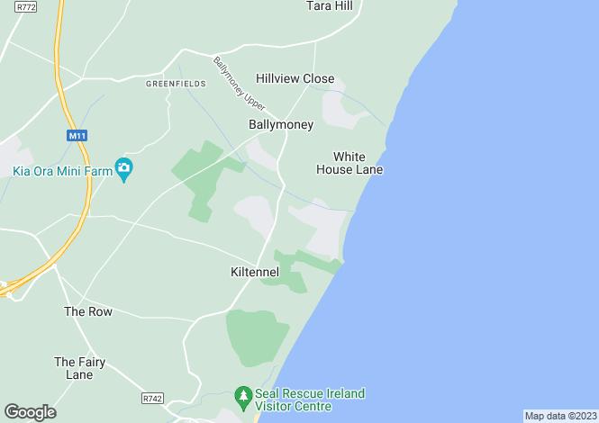 Map for 20 Tara Green, Ballymoney, Gorey, Co. Wexford, Y25CH61
