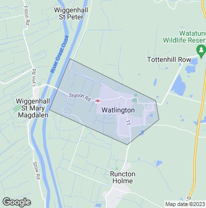 Map of property in Watlington