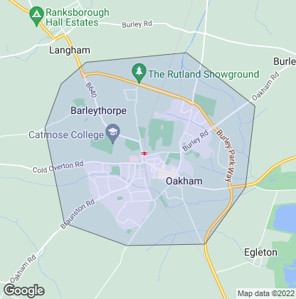 Map of property in Oakham