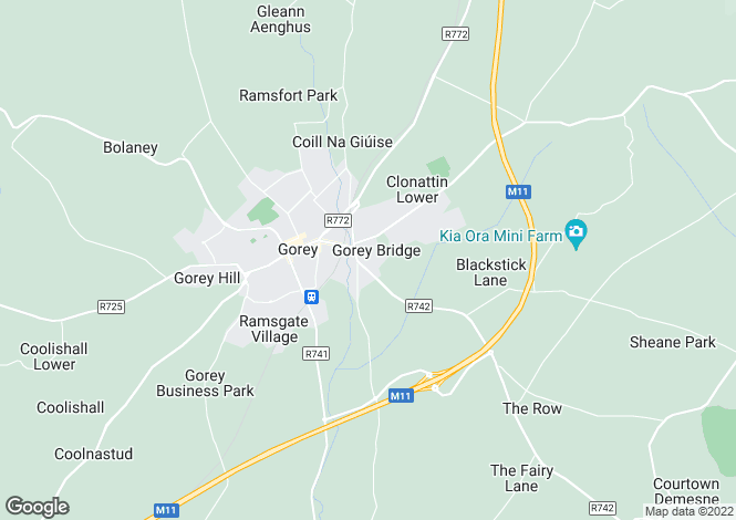 Map for Unit 2, IDA Industrial Estate, Courtown Road, Gorey, Co. Wexford