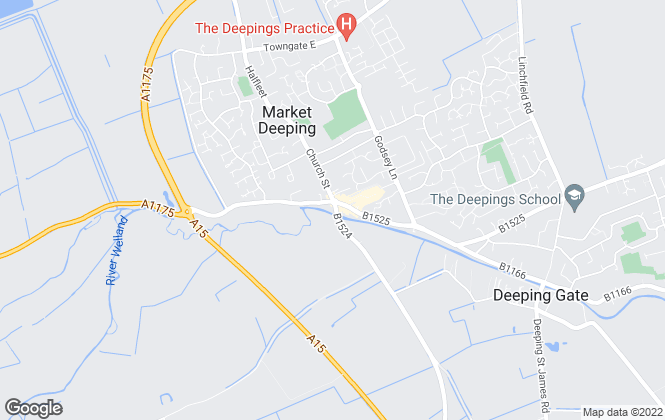 Map for Newton Fallowell, Market Deeping - Sales