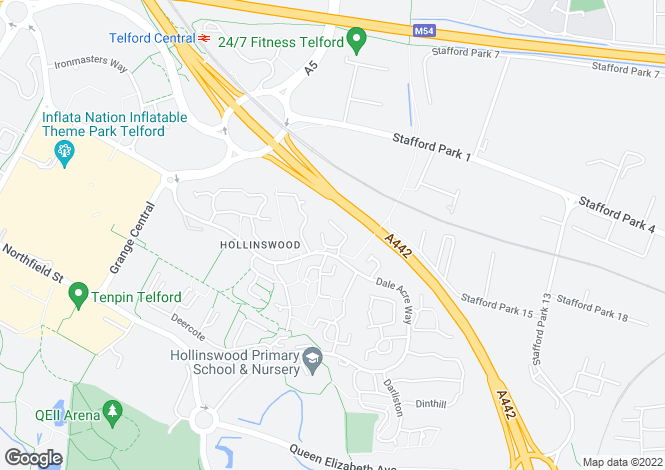 Map for Dinchope Drive, Hollinswood, Telford, TF3
