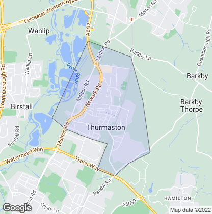 Map of property in Thurmaston